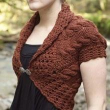 Love this shrug. Must practice knitting.