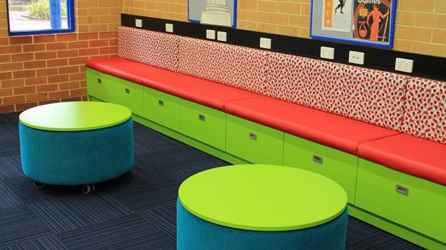 Funky mobile table ottomans