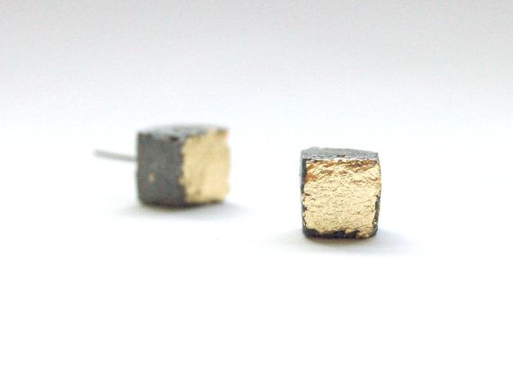 These square concrete earring studs are the perfect piece for that architect or designer in your life. Each earring has been cast in a handmade