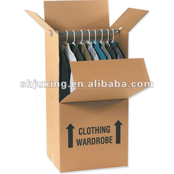 Clothing Storage Moving Paper Wardrobe ... For travel and use ... could this be homemade?  with different materials?