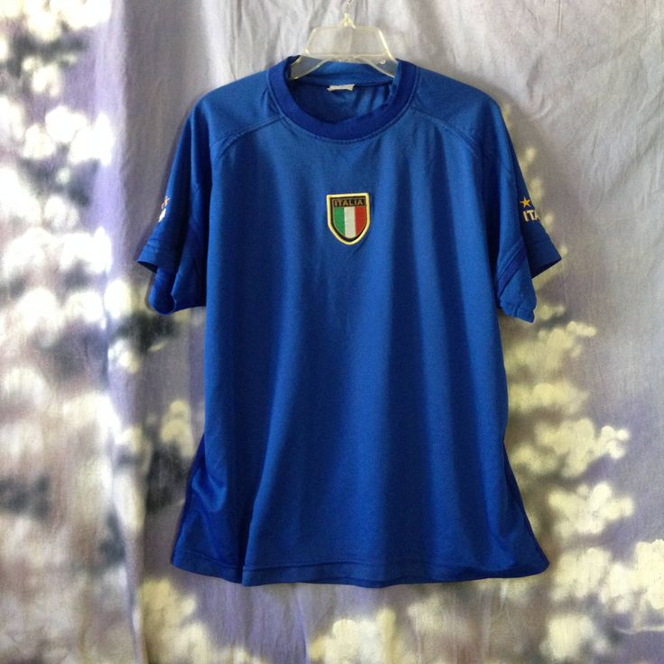V130 Men's Italia soccer shirt , polyester, short sleeve ,chest 46 by TippysAttic on Etsy