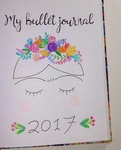 Una idea genial para portada de tu bullet journal. #Inspiración #BulletJournal