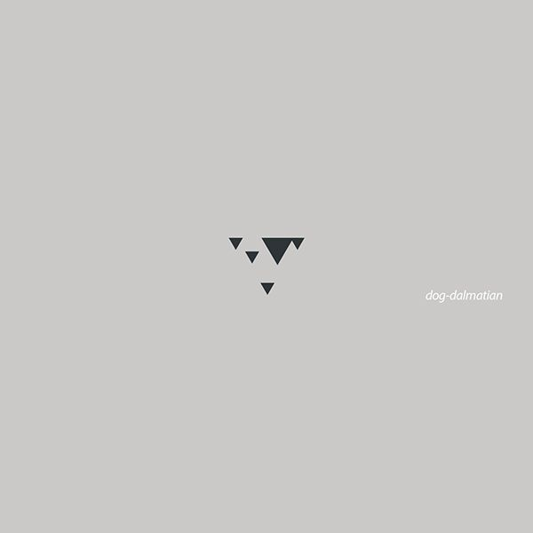 Dalmatian Dog  Logo minimal triangles M.rasoulipour