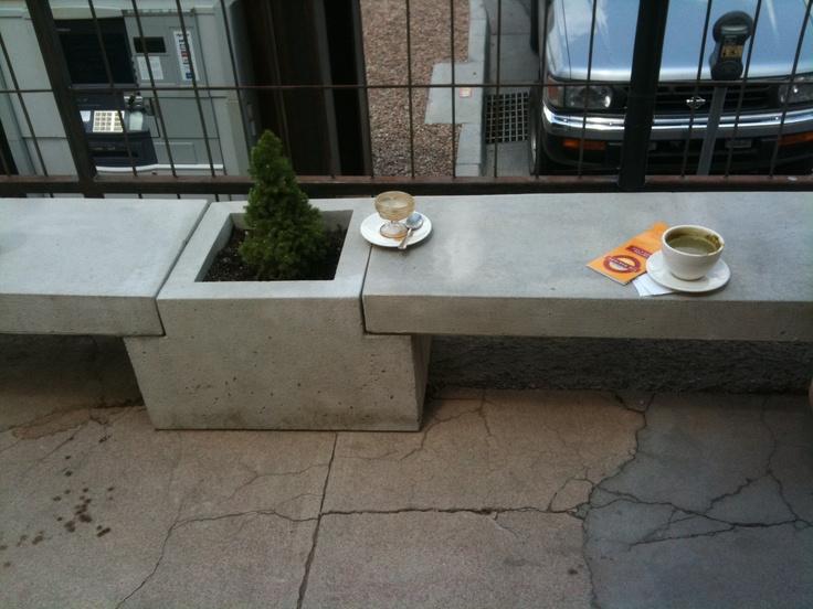 Charming Concrete Bench / Planter Combo Photo