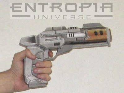 Tektonten Papercraft - Free Papercraft, Paper Models and Paper Toys: Entropia Universe Pistol Papercraft