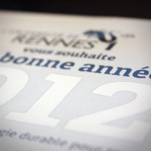 Happy New Year From Rennes 1 [3]  #Carte #Voeux #FSC #Eco #Print