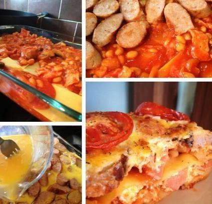 All day breakfast lasagne