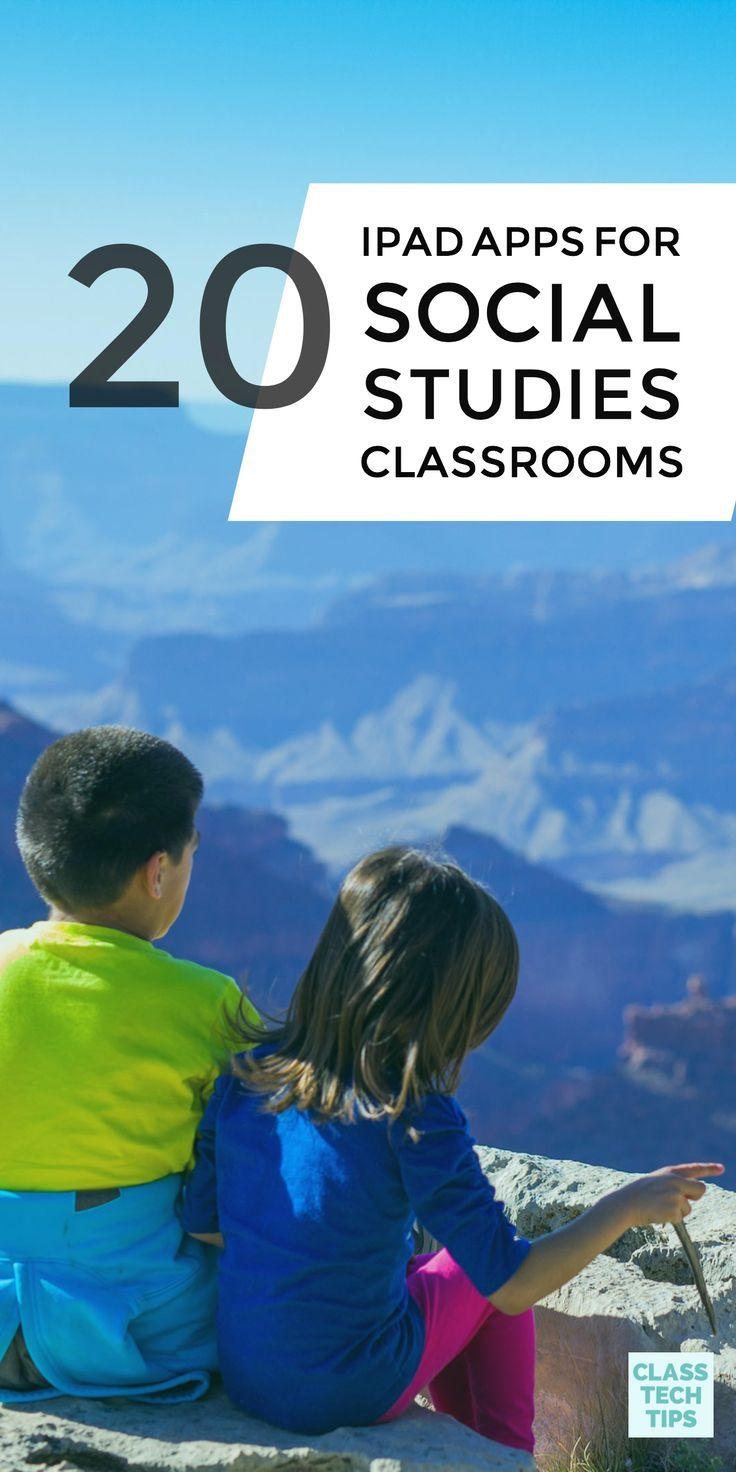 This list of iPad apps for social studies classrooms includes a wide range of favorites. You'll find content that connects students to primary source documents and games full of trivia questions. #socialstudies #ipadapps #ipadappsforkids