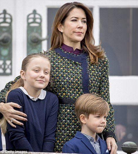 It's the second time this month that Crown Princess Mary and her family have stepped out all together.