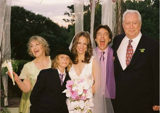 The Downey family (from left): Elsie, Indio, Susan, Robert Jr., Robert Sr., at the wedding of Susan and Robert Jr.