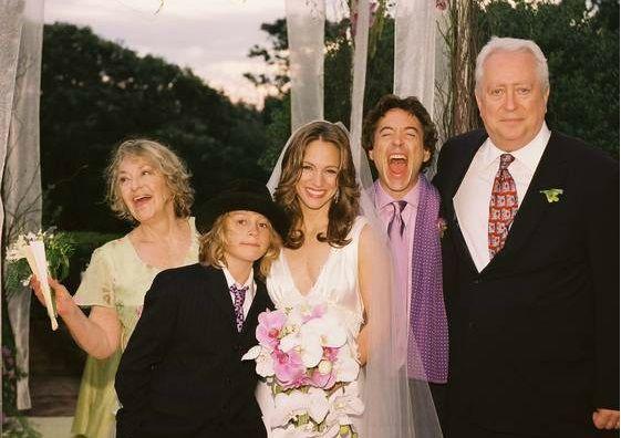The Downey family (from left): Elsie, Indio, Susan, Robert Jr., Robert Sr., at the wedding of Susan and Robert Jr.
