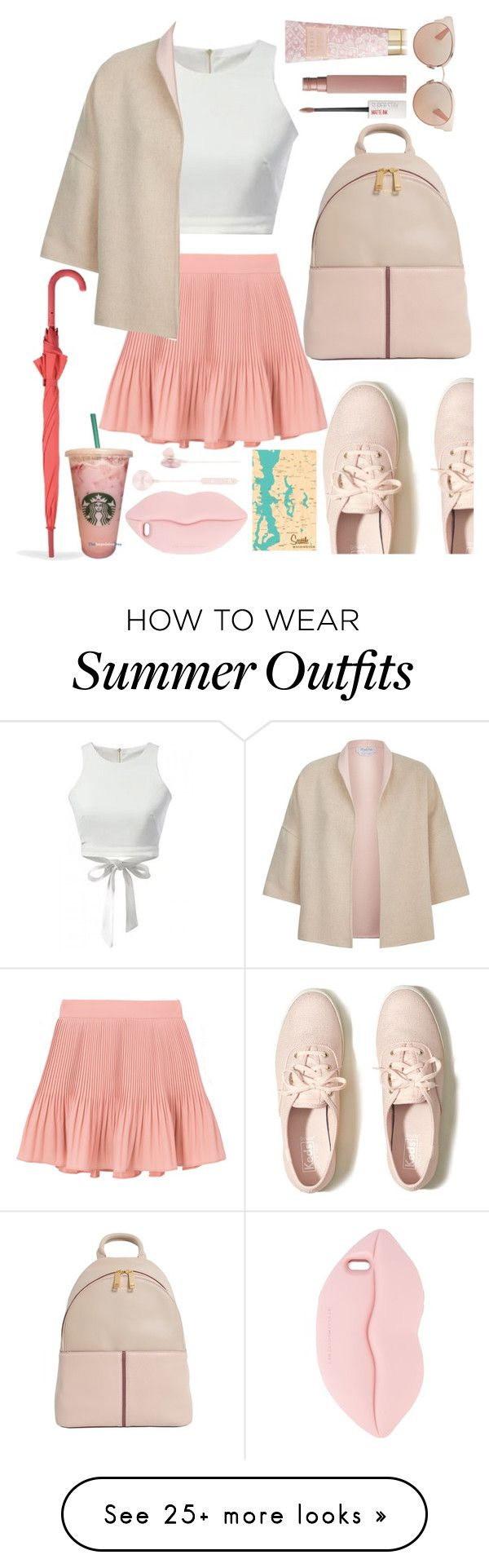 """Strolling Around Seattle"" by ayiarundhati on Polyvore featuring Hollister Co., MaxMara, LEXON, HUGO, Christian Dior, STELLA McCARTNEY, i.am+, Maybelline and AERIN"