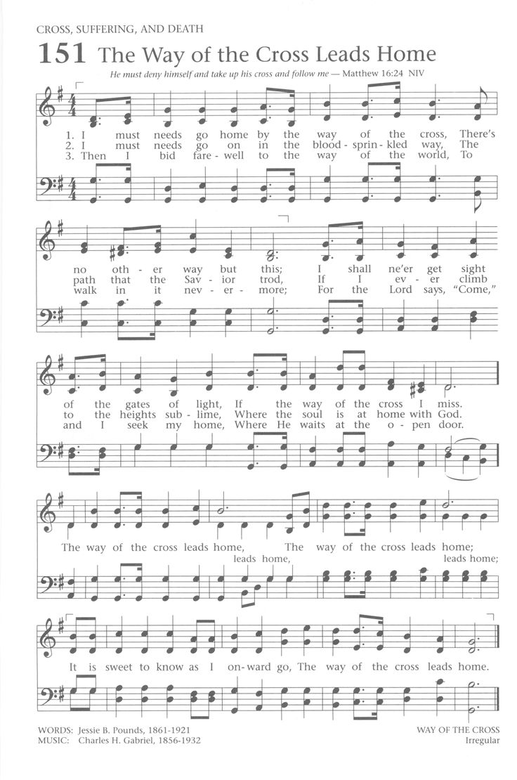 98 best hymns and songs of praise images on pinterest la la la the way of the cross leads home hexwebz Gallery