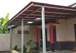 dekorasi teras baja ringan kumpulan model rumah minimalis