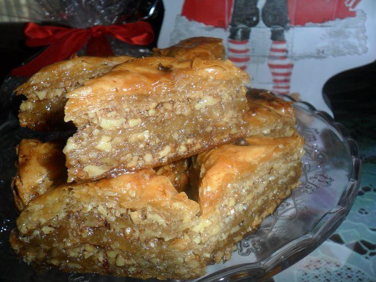 baklava with walnuts and honey
