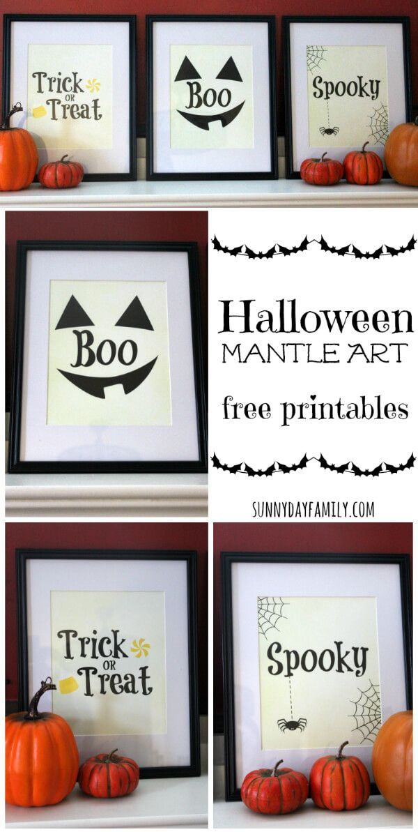 Free Printable Halloween Art! Add a festive touch to your Halloween decorations…