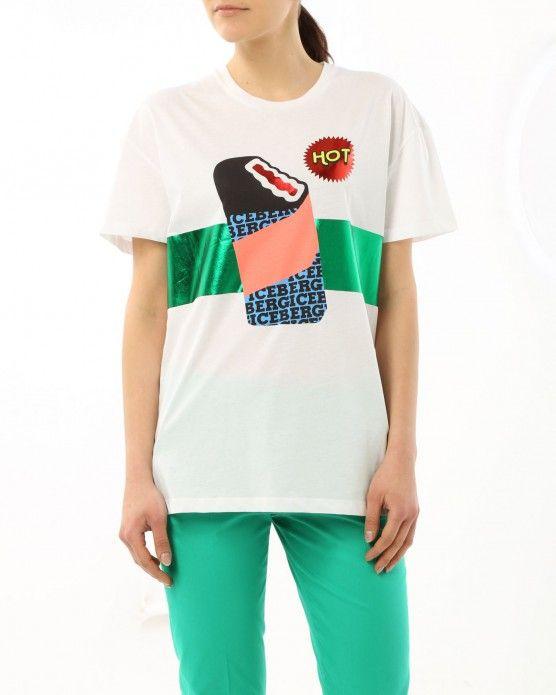 Summer vibes alert! Get the multi-coloured ice cream T-shirt by Iceberg