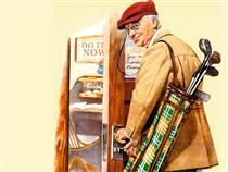 Golf - Norman Rockwell
