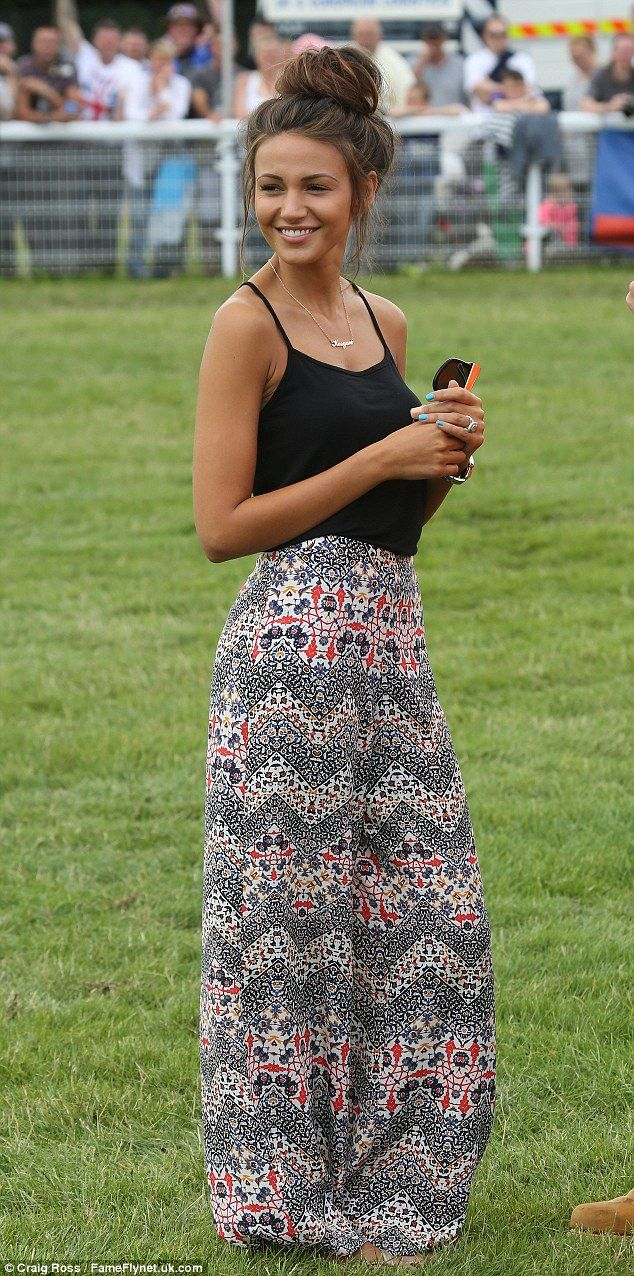 Driven: Michelle Keegan stole the show when she stepped out at Truckfest South West & Wales 2014 on Malvern's Three Counties Showground on Saturday
