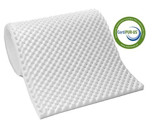 Vaunn Medical Egg Crate Convoluted Foam Mattress Pad 3 Thick Eggcrate Topper Hospital Bed Twin Size Made In Usa