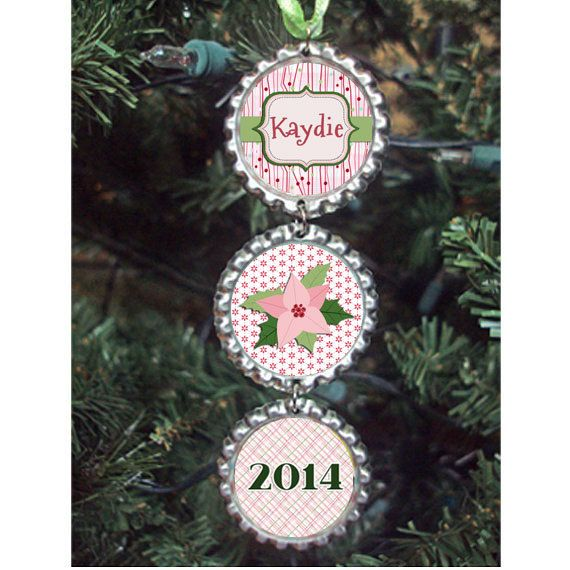 Nice First Christmas Ornaments 2014 Part - 11: Babyu0027s First Christmas Ornament 2014 - Bottlecap Ornament - Personalized -  Photo Ornament - Kids Ornament | Personalized Photo Ornaments, Christmas  Ornament ...