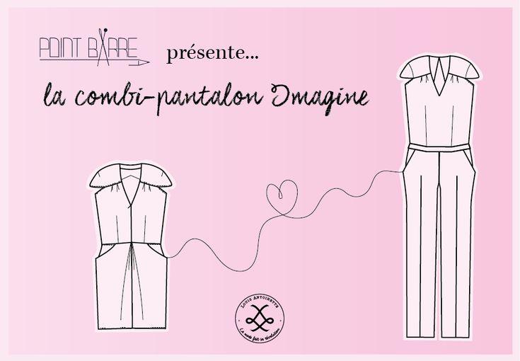 Découvrez le tutoriel pour transformer la robe Imagine en combi-pantalon imaginé @Point.Barre, grand prix du jury de #hacklamode, saison 2.