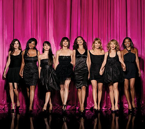 Pam Grier, Mia Kirshner, Jennifer Beals, Leisha Hailey, Laurel Holloman, Katherine Moennig, Rose Rollins, and Rachel Shelley in The L Word (2004)