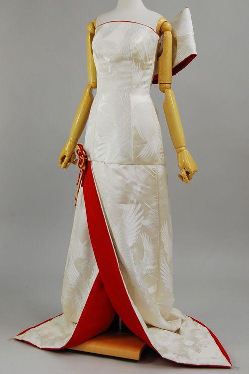 Hanayome Salon's Custom-made Repurposed Kimono Dress | Community Post: 10 Classy Wedding Dresses Made From Japanese Kimonos