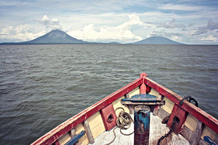 Isla de Ometepe from the ferry.