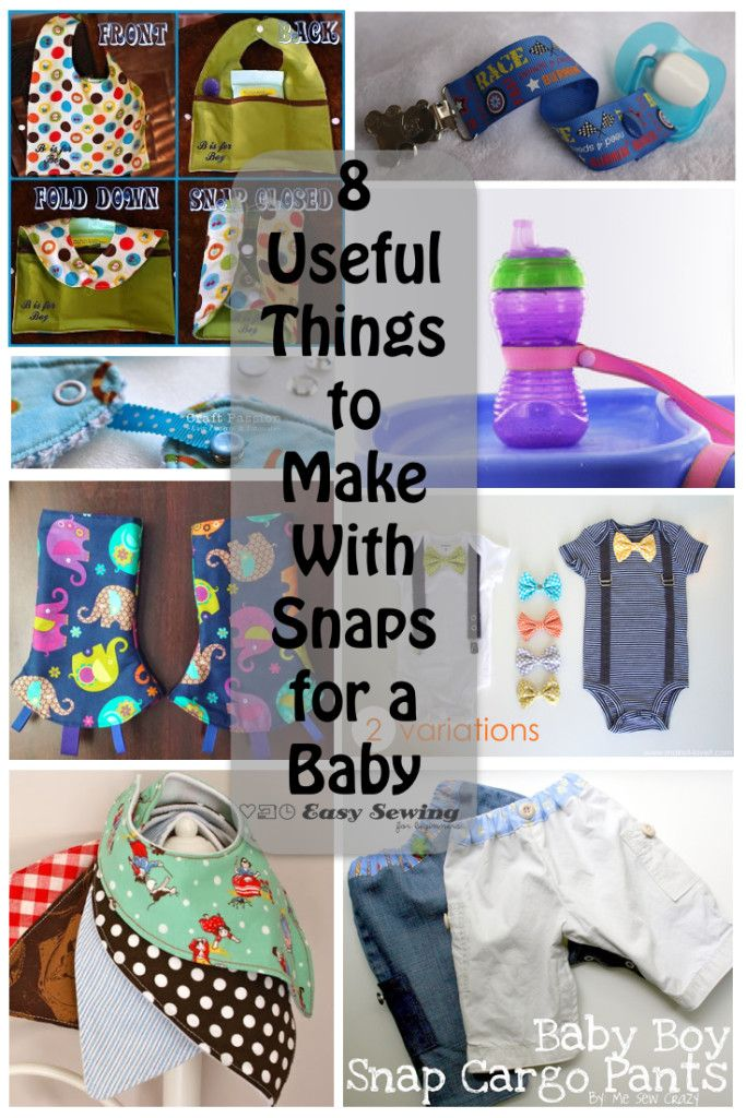 8 Useful Things to Make With Snaps for a Baby | Easy Sewing For Beginners
