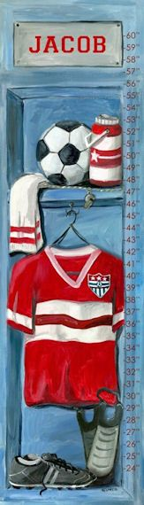 Soccer Locker Peel And Stick Growth Chart - Wall Sticker Outlet