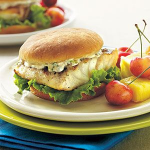 Grilled Grouper Sandwiches with Tartar Sauce | MyRecipes.com