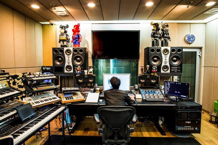 A home studio home studio music, sound studio, audio studio, garage studio, Audio Studio, Music Studio Room, Studio Desk, Sound Studio, Garage Studio, Studio Setup, Home Music, Recording Studio Design, Dream Studio