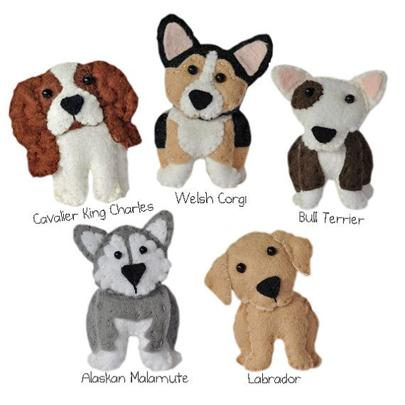 cute plush Dogs sewing patterns set One pdf PATTERN por sewsweetuk