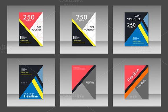 Brochure design template Vol.5 by Haisonok on @creativemarket