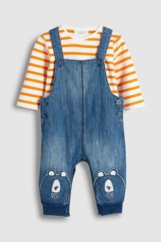 b1ec68631 Denim Bear Dungaree And Bodysuit Set (0mths-2yrs)
