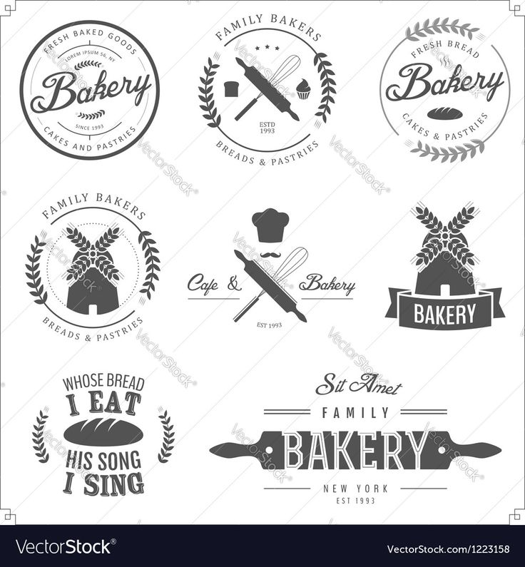 Vector image of Set of bakery labels badges and design elements Vector Image, includes retro, design, tag, icon & vintage. Illustrator (.ai), EPS, PDF and JPG image formats.