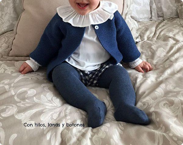 Con hilos, lanas y botones: Chaqueta punto bobo para bebé paso a paso