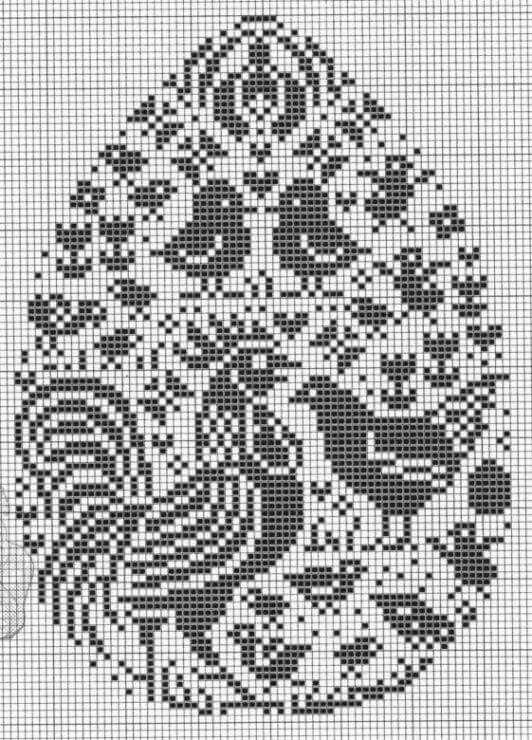 Birds chicken cross stitch.