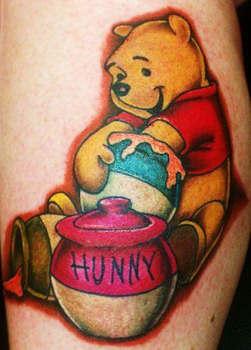 Nice and beautiful Winnie The Pooh tattoo from TattoosWin.com