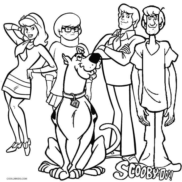 Printable Scooby Doo Coloring Pages For Kids Cool2bKids