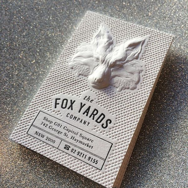 20 Brilliant Blind Embossed Business Cards