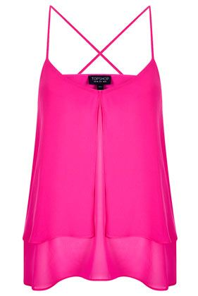 hot pink cami from topshop - White, blue, black...so many things I can wear with this!