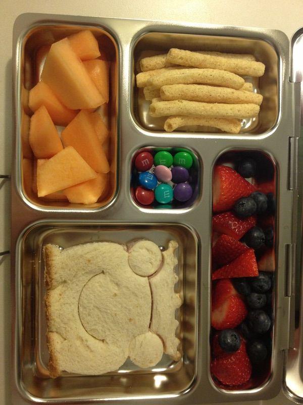 Planet Box Lunch Ideas - LOVE the sandwich shape!