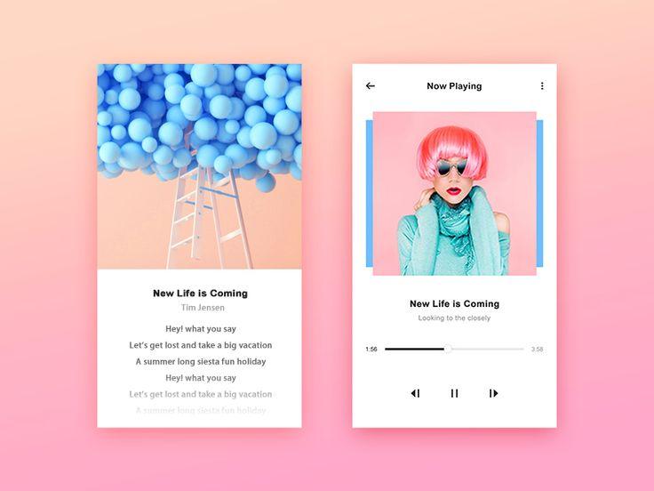 Music app by xiaoniaojiu #Design Popular #Dribbble #shots