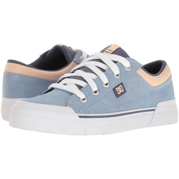 DC Danni TX SE (Blue/White/Orange) Women's Skate Shoes (€38) ❤ liked on Polyvore featuring shoes, rubber toe shoes, rubber toe skate shoes, blue shoes, flexible shoes and dc shoes footwear