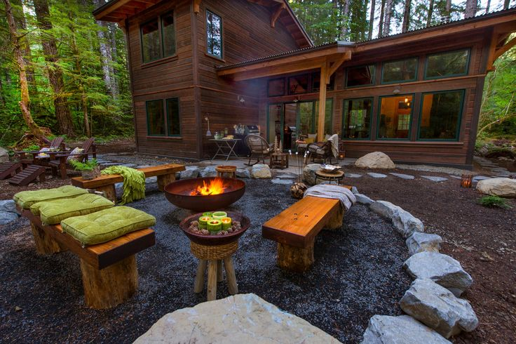 25 best ideas about rustic fire pits on pinterest for Rustic landscape ideas