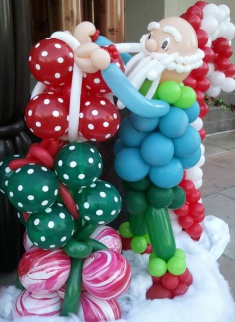 Best christmas holiday balloondecor images on pinterest