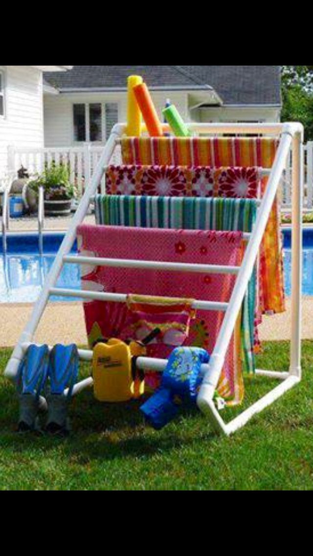 1000 ideas about pool float storage on pinterest above for Above ground pool storage ideas