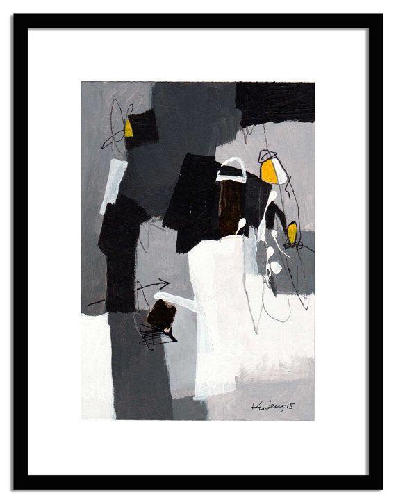7x10 wall abstract painting modern abstract acrylic by kuzennyArt